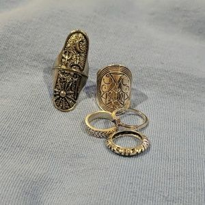 Silver rings! Bundle of 5!